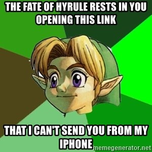 Link - the fate of hyrule rests in you opening this link that I can't send you from my iphone