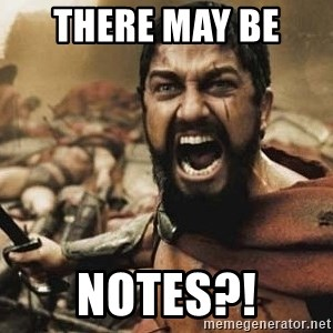 300 - There may be  notes?!