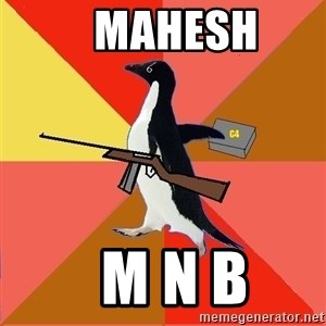 Socially Fed Up Penguin -    MAHESH   M N B