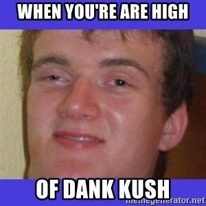 rally drunk guy - when you're are high of dank kush