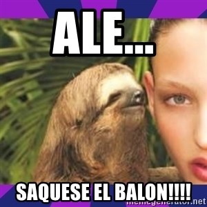 Perverted Whispering Sloth  - ale... saquese el balon!!!!