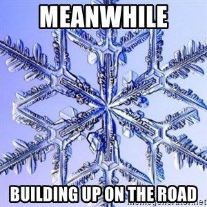 Special Snowflake meme - Meanwhile  Building up on the road
