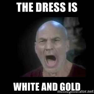 Picard lights - The Dress Is White and Gold