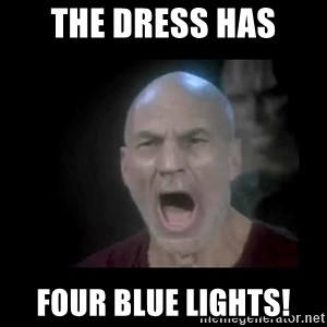 Picard lights - THE DRESS HAS FOUR BLUE LIGHTS!