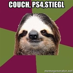 Just-Lazy-Sloth - Couch, PS4,Stiegl