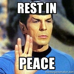 Spock - Rest In Peace
