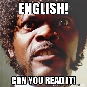 Mad Samuel L Jackson - English! Can you read it!