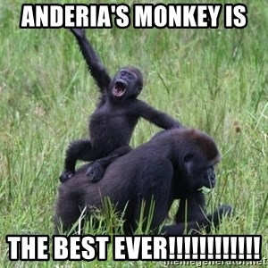Happy Gorilla - Anderia's monkey is  the best ever!!!!!!!!!!!!