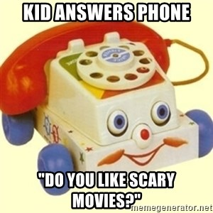 """Sinister Phone - Kid answers phone """"do you like scary movies?"""""""