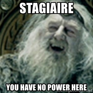 you have no power here - Stagiaire you have no power here