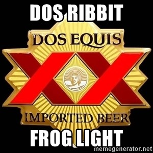 Dos Equis - Dos Ribbit Frog Light