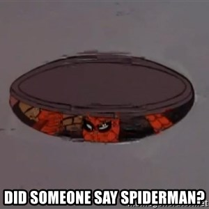 Spiderman in Sewer -  Did someone say spiderman?