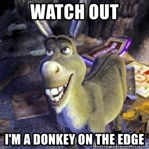 Donkey Shrek - Watch out I'm a donkey on the edge