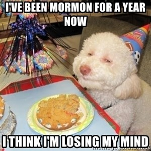 Birthday dog - I've been mormon for a year now I think I'm losing my mind