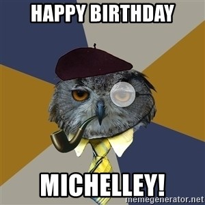 Art Professor Owl - Happy Birthday Michelley!