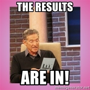 MAURY PV - THE RESULTS ARE IN!