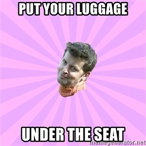 Sassy Gay Friend - Put your luggage Under the seat