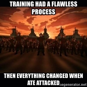 until the fire nation attacked. - Training had a flawless process then everything changed when ate attacked