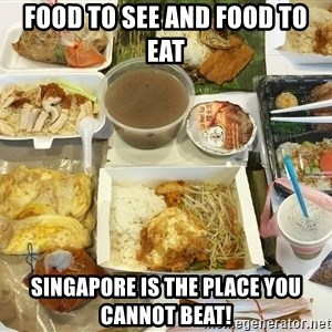 Takeaway - Food to see and food to eat Singapore is the place you cannot beat!