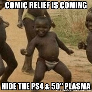 "Little Black Kid - Comic relief is coming  Hide the PS4 & 50"" plasma"