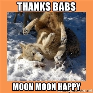 Moon Moon - THANKS BABS MOON MOON HAPPY
