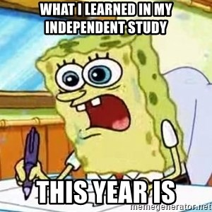 Spongebob What I Learned In Boating School Is - what I learned in my independent study this year is