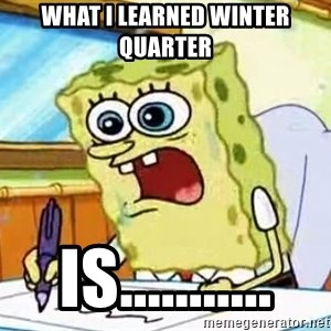Spongebob What I Learned In Boating School Is - WHAT I LEARNED WINTER QUARTER IS...........