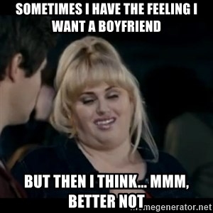 Better Not - Sometimes i have the feeling I want a boyfriend but then i think... mmm, better not