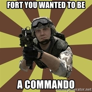 Arma 2 soldier - Fort you wanted to be A commando
