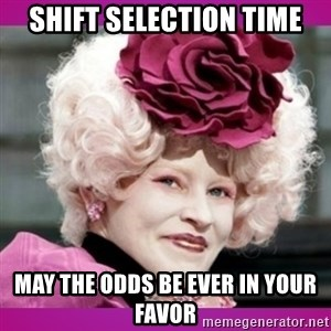 hunger games effie - Shift Selection Time May the odds be ever in your favor