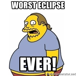 Comic Book Guy Worst Ever - Worst Eclipse Ever!