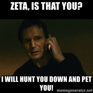 liam neeson taken - Zeta, is that you? I will hunt you down and pet you!