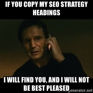 liam neeson taken - If you copy my SEO strategy headings i will find you, and i will not be best pleased