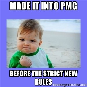 Baby fist - Made it into PMG  before the strict new rules