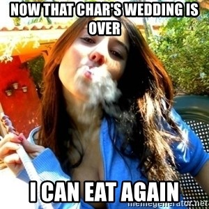 Good Girl Ana - now that char's wedding is over  i can eat again