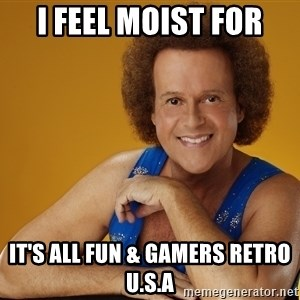 Gay Richard Simmons - I feel moist for It's all fun & gamers retro U.S.A