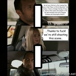 The Rock Driving Meme - I I