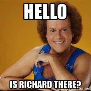 Gay Richard Simmons - Hello Is Richard there?