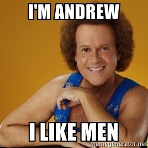 Gay Richard Simmons - I'm Andrew I like men