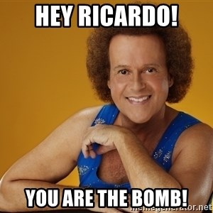 Gay Richard Simmons - Hey Ricardo! You are the bomb!