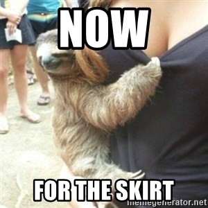 Perverted Sloth - Now For the skirt