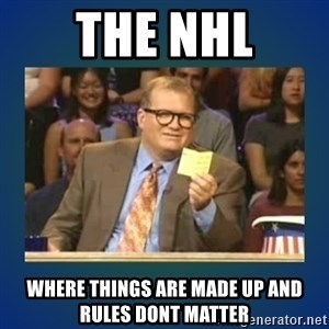 drew carey - THE NHL WHERE THINGS ARE MADE UP AND RULES DONT MATTER