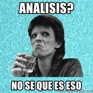 Disturbed Bowie - analisis? no se que es eso