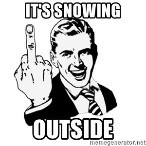 middle finger - IT'S SNOWING OUTSIDE