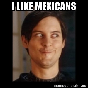 Toby Maguire trollface - I like mexicans