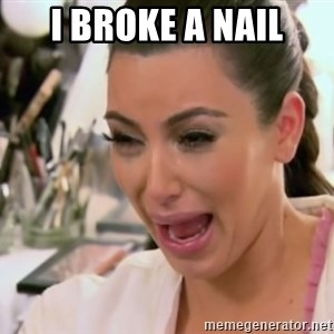 Kim Kardashian Crying - i broke a nail