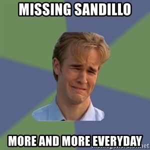 Sad Face Guy - missing sandillo more and more everyday