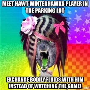 Insanity Scene Wolf - meet hawt winterhawks player in the parking lot exchange bodily fluids with him instead of watching the game!