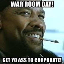 Denzel Washington Cigarette - War Room Day! Get Yo Ass to Corporate!