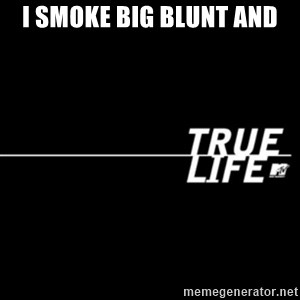 true life - I smoke big blunt and